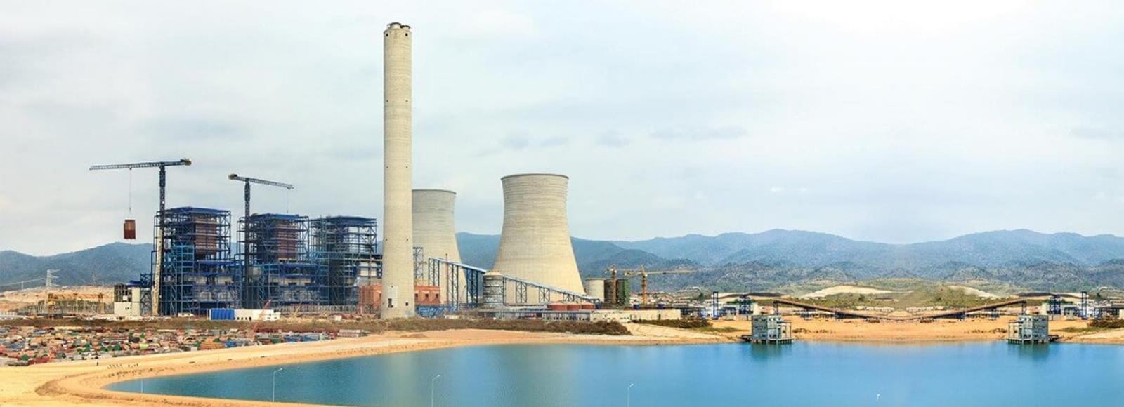 Power plant chimney - header